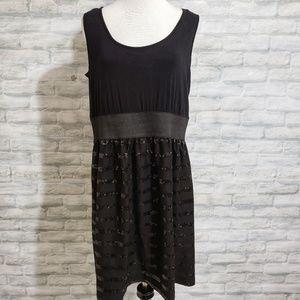 Torrid black sequin tank dress NWT